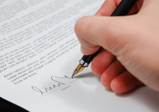 signing a letter of intent to buy or sell a business